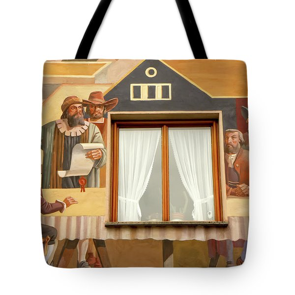 Tote Bag featuring the photograph Oberammergau Frescoe by KG Thienemann