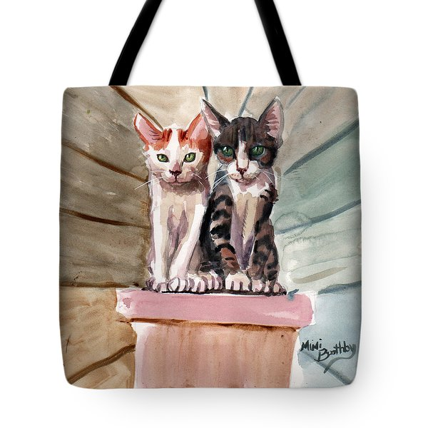 Obi And Lisa Two Kittens Tote Bag