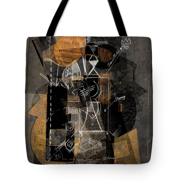 Objects In Space With Ochre Tote Bag