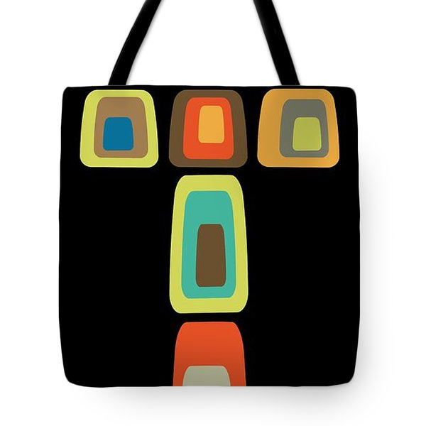 Tote Bag featuring the digital art Oblong Cross by Donna Mibus