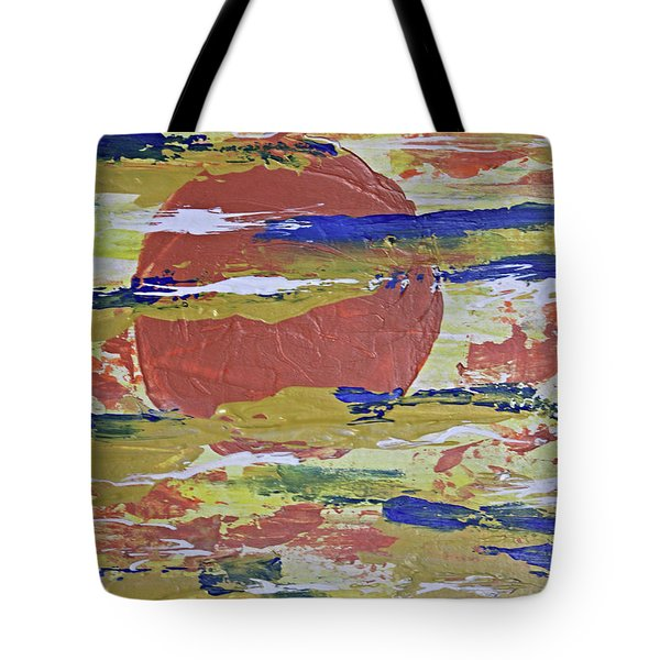 Obscure Orange Abstract Tote Bag