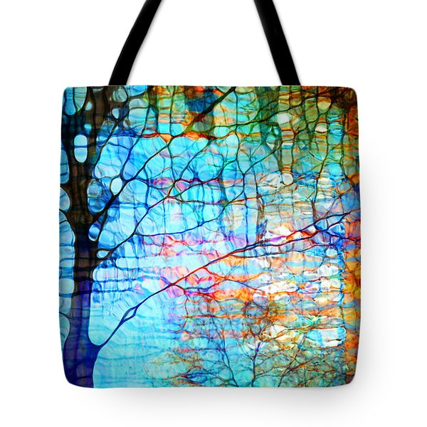 Obscured In Blue Tote Bag