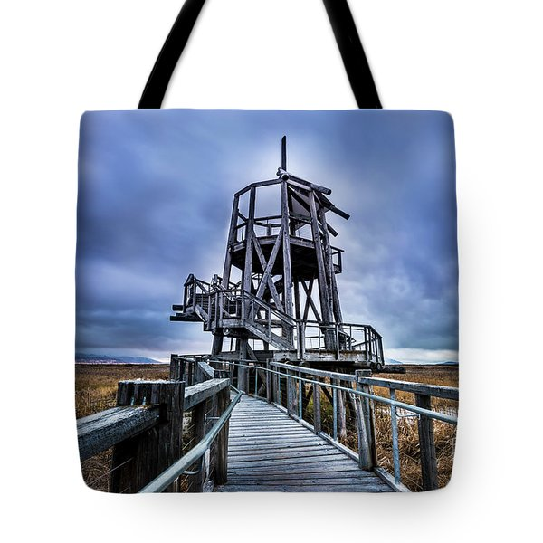 Observation Tower - Great Salt Lake Shorelands Preserve Tote Bag by Gary Whitton