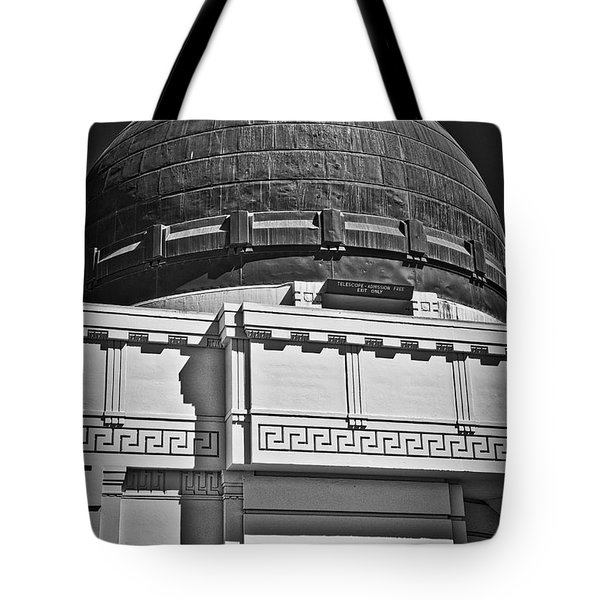 Tote Bag featuring the photograph Observatory In Art Deco by Kirt Tisdale