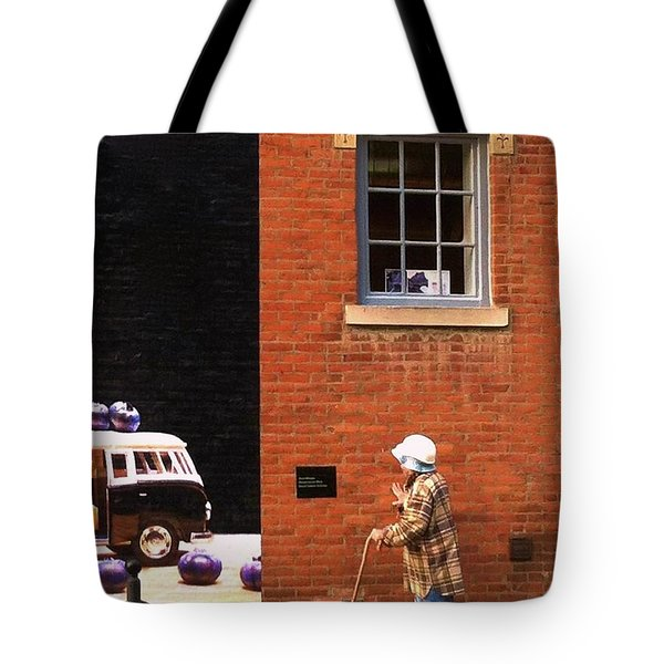 Observing Building Art Tote Bag