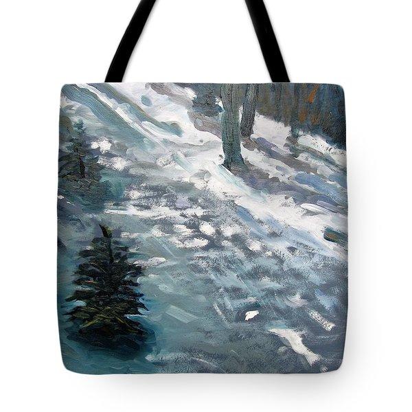 Observing Snow Tote Bag