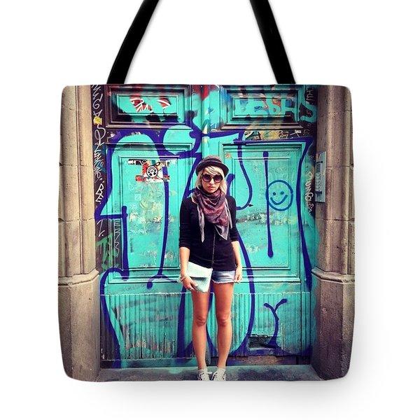Doors Of Barcelona Tote Bag