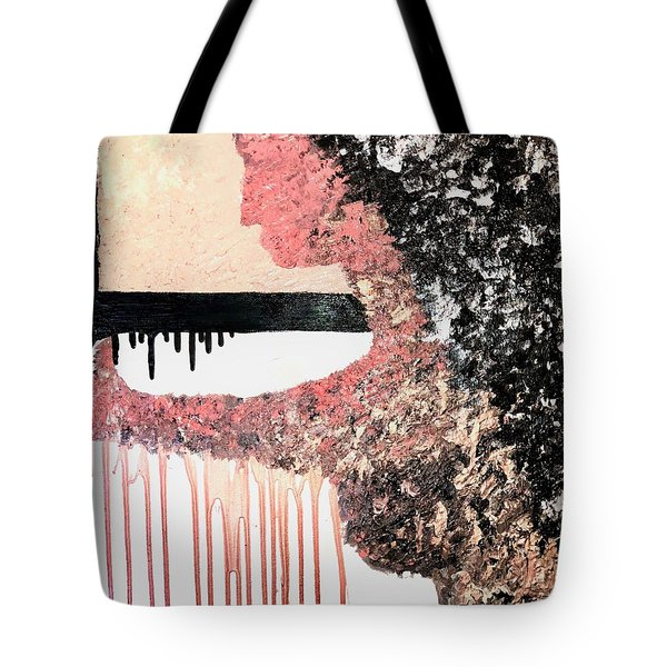 Obsidian Blush Tote Bag