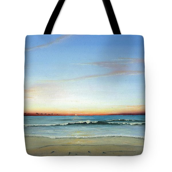 Tote Bag featuring the painting Obx Sunrise by Albert Puskaric