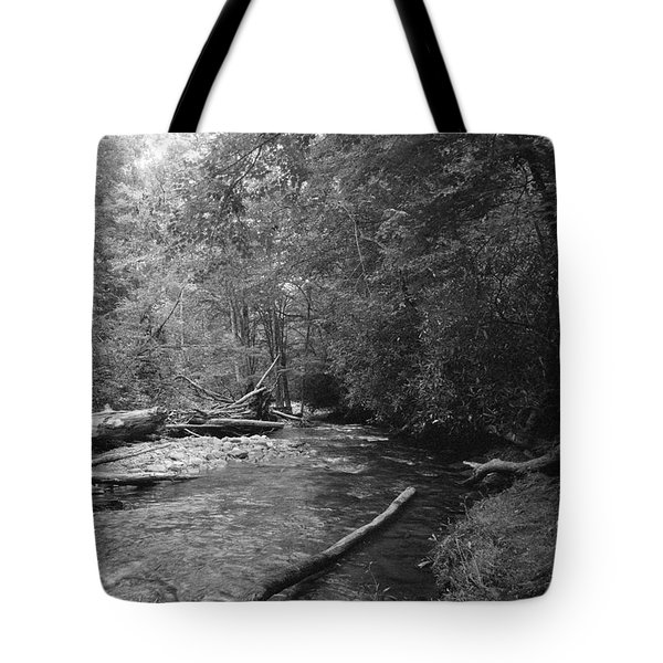 Ocanaluftee River - Great Smokey Mountains Tote Bag