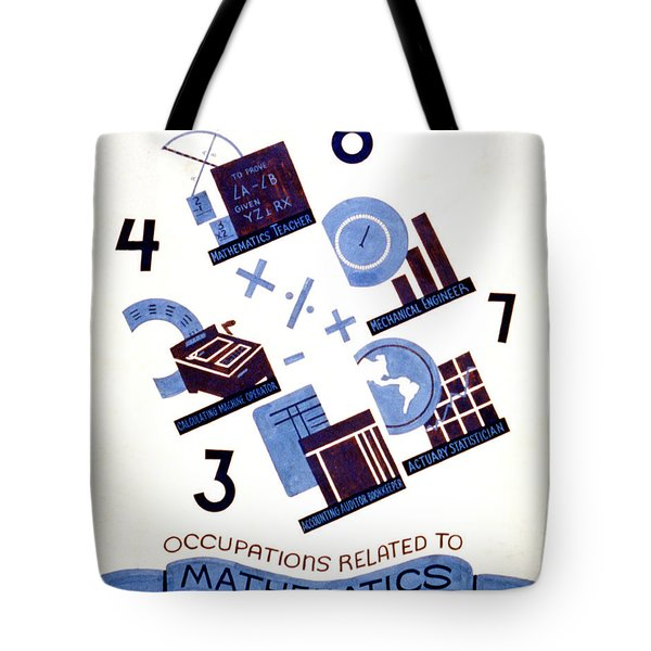 Occupations Related To Mathematics Tote Bag