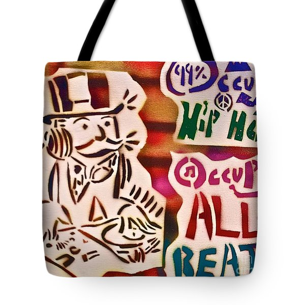 Occupy All Beats Tote Bag by Tony B Conscious
