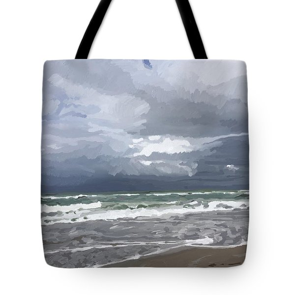 Ocean And Clouds Over Beach At Hobe Sound Tote Bag