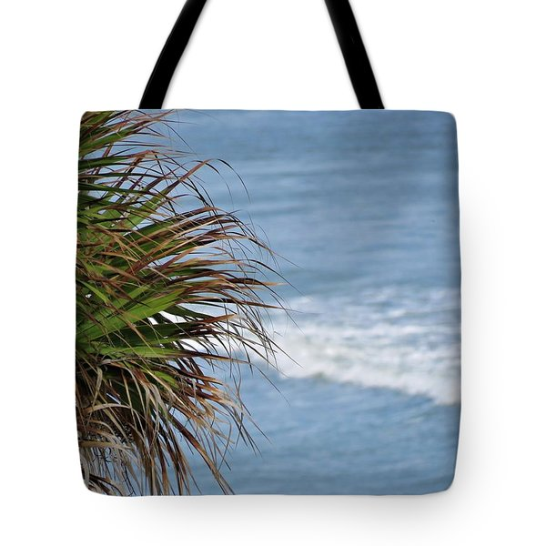 Ocean And Palm Leaves Tote Bag