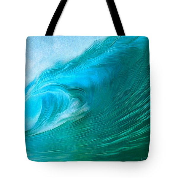 Ocean At Play Larger Version Tote Bag