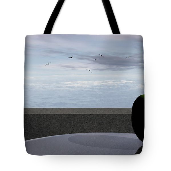 Ocean Balcony Tote Bag by Richard Rizzo