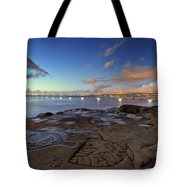 Ocean Beach Pier At Sunset, San Diego, California Tote Bag