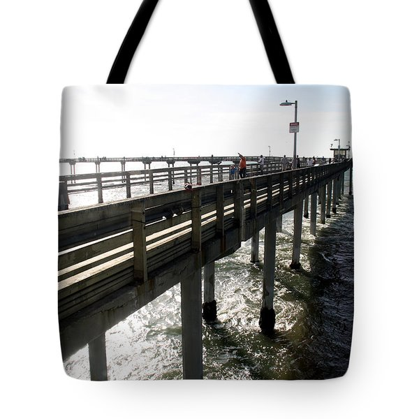 Tote Bag featuring the photograph Ocean Beach Pier by Christopher Woods