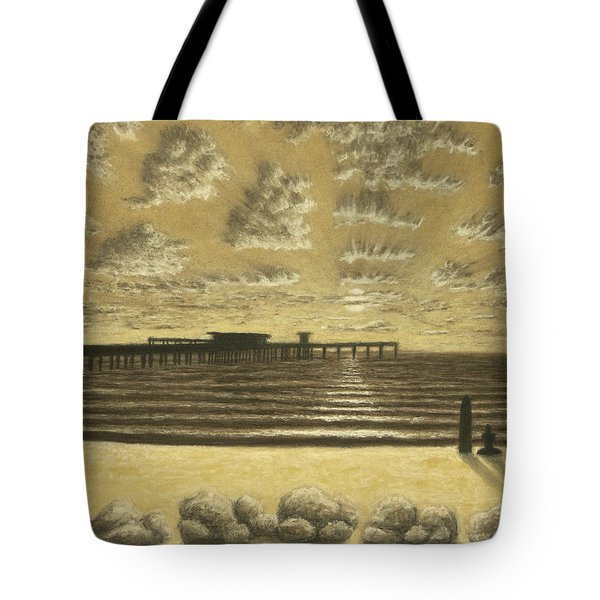 Ocean Beach Pier Sunset 01 Tote Bag