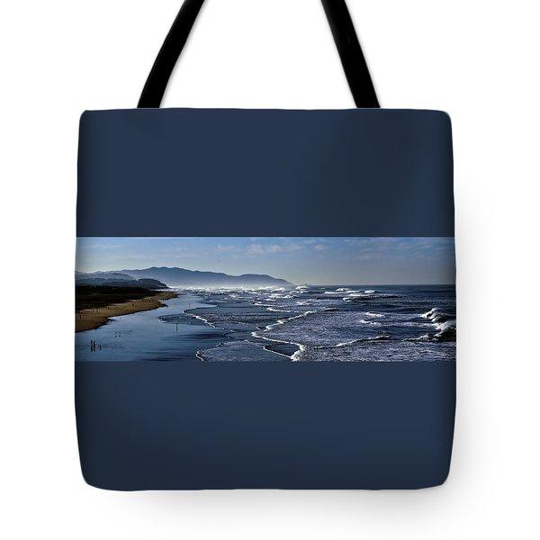 Tote Bag featuring the photograph Ocean Beach San Francisco by Steve Siri
