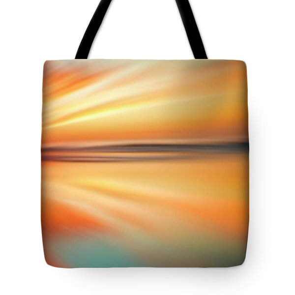 Ocean Beach Sunset Abstract Tote Bag