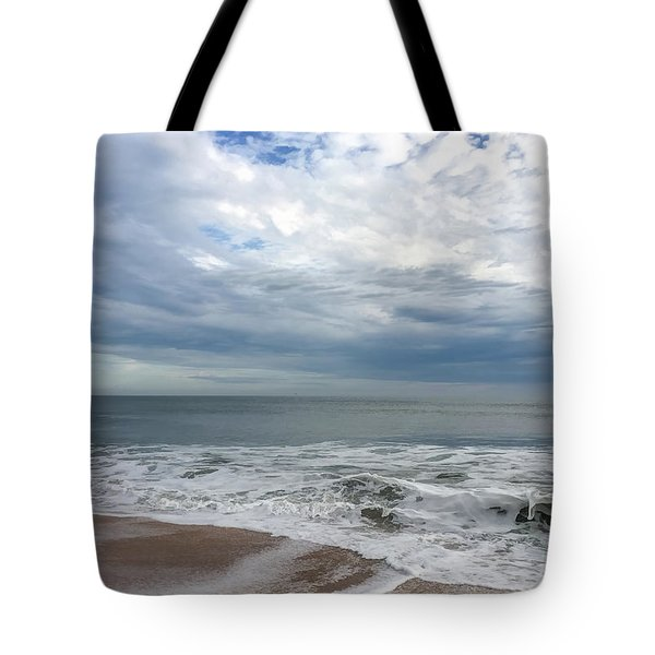 Tote Bag featuring the photograph Ocean Blue by Claire Turner