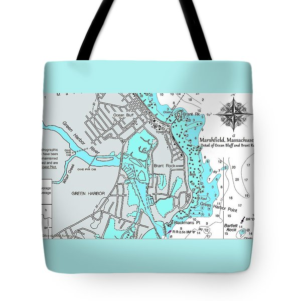 Ocean Bluff And Brant Rock Tote Bag