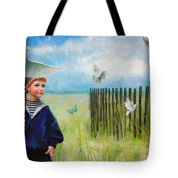 Tote Bag featuring the digital art Ocean Breeze by Alexis Rotella