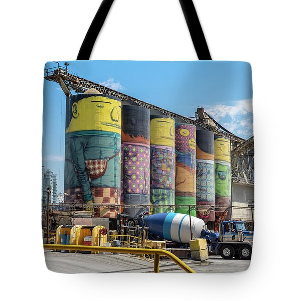 Tote Bag featuring the photograph Ocean Cement by Ross G Strachan