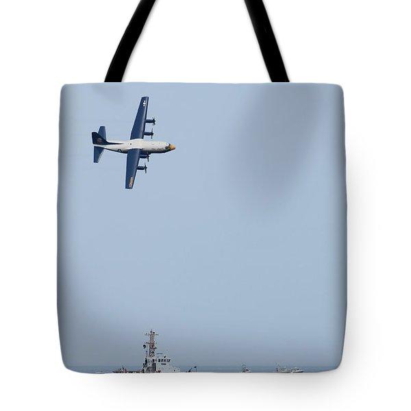 Ocean City Air Show 2015 Tote Bag by Robert Banach