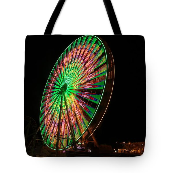 Ocean City Ferris Wheel Tote Bag