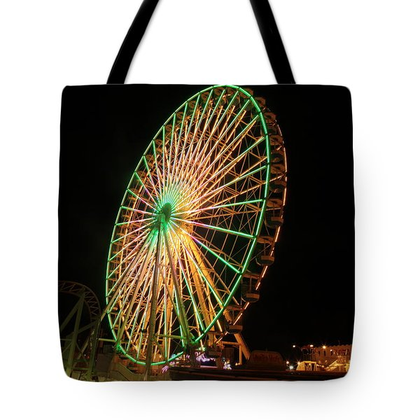 Ocean City Ferris Wheel3 Tote Bag