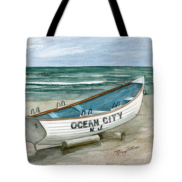 Ocean City Lifeguard Boat Tote Bag