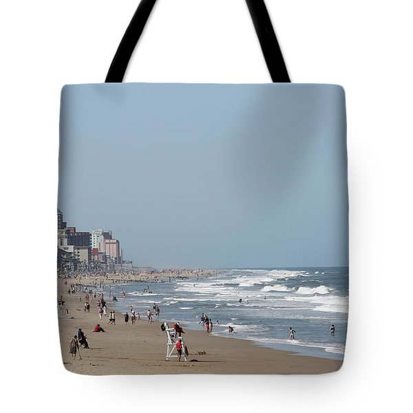Ocean City Maryland Beach Tote Bag by Robert Banach