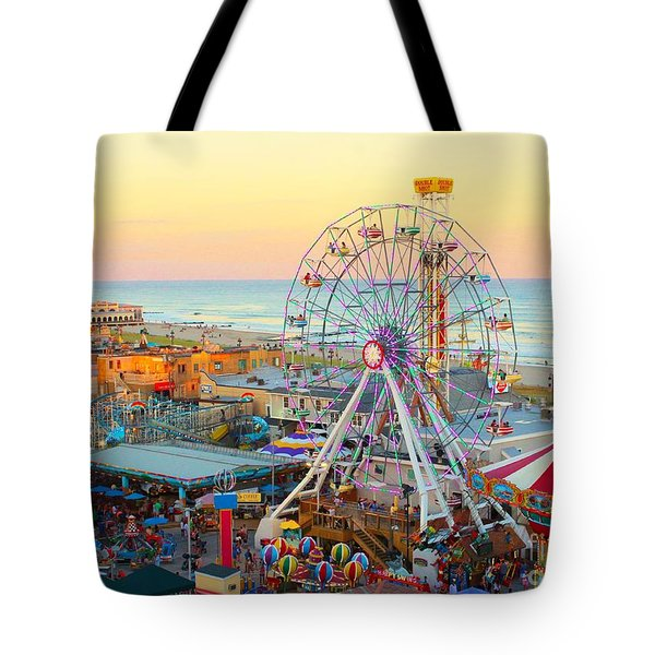 Ocean City New Jersey Boardwalk And Music Pier Tote Bag