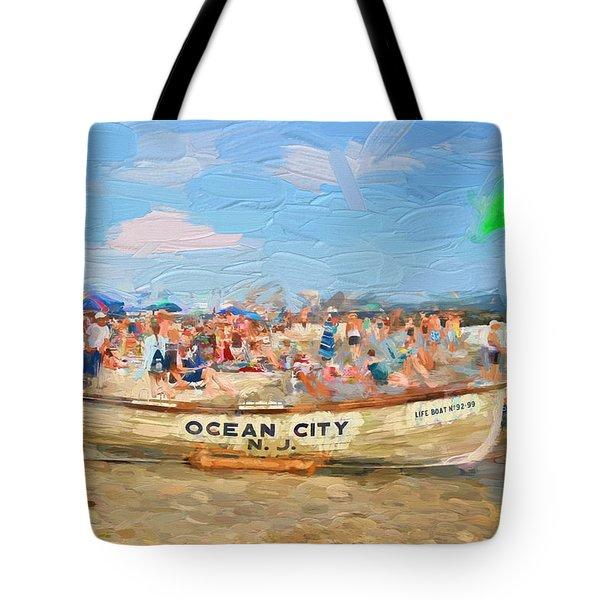 Ocean City Rescue Boat 2 Tote Bag