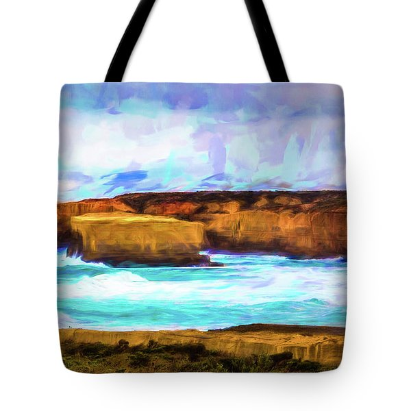 Tote Bag featuring the photograph Ocean Cliffs by Perry Webster