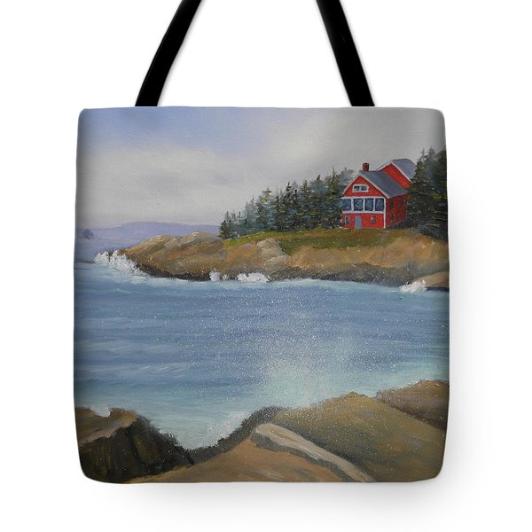 Ocean Cottage Tote Bag