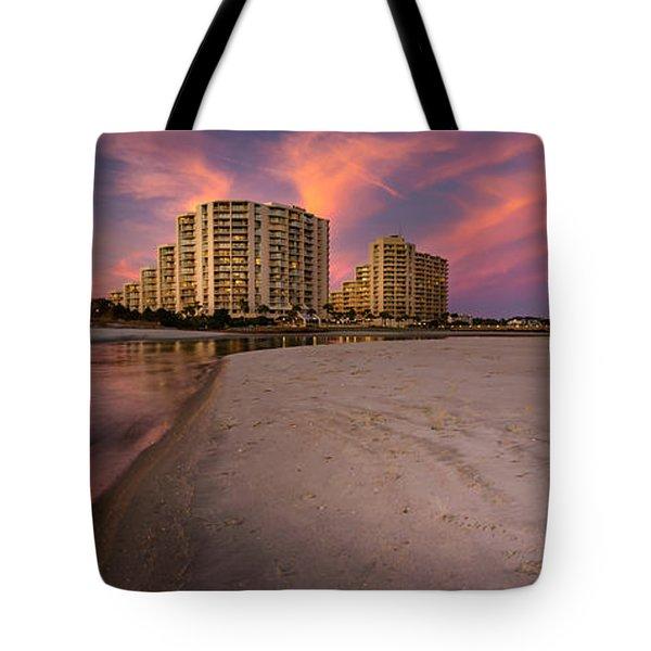 Ocean Creek Panoramic Tote Bag by David Smith