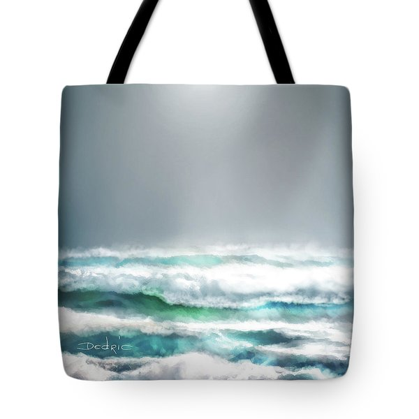 Tote Bag featuring the digital art Ocean  by Dedric Artlove W
