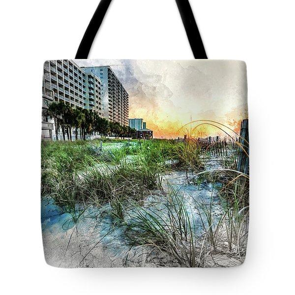 Ocean Drive Easter Sunrise Tote Bag