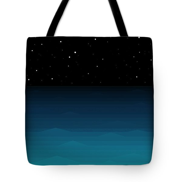 Ocean - Elements - Starry Night Tote Bag by Val Arie