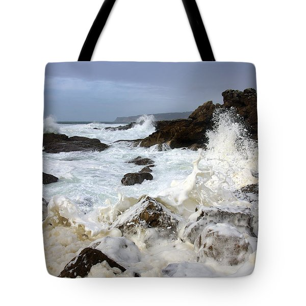 Ocean Foam Tote Bag by Carlos Caetano