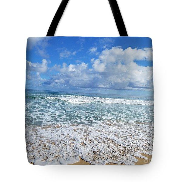 Ocean Foam Tote Bag