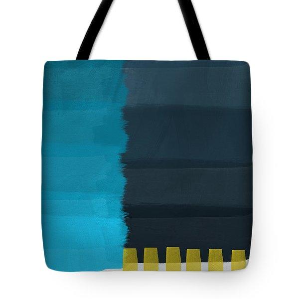 Ocean Front Walk- Art By Linda Woods Tote Bag by Linda Woods