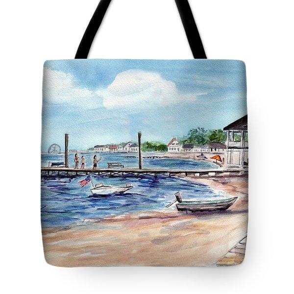 Ocean Gate Boardwalk Tote Bag