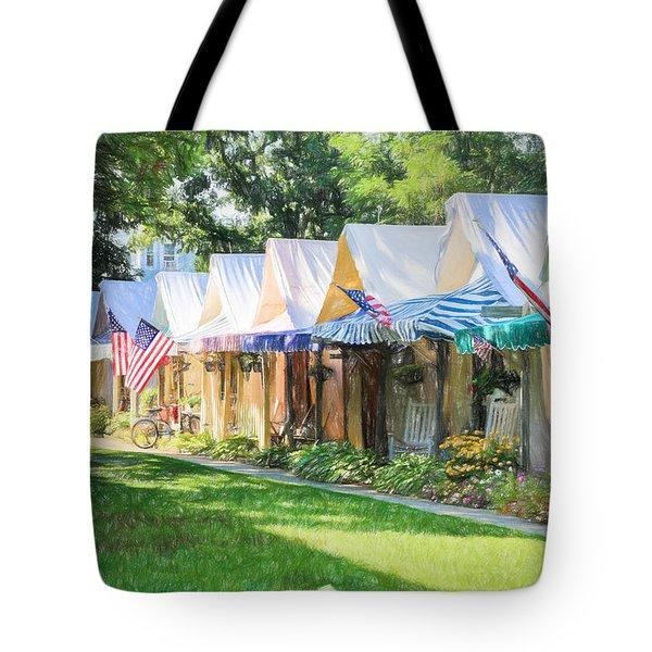 Ocean Grove Tents Sketch Tote Bag
