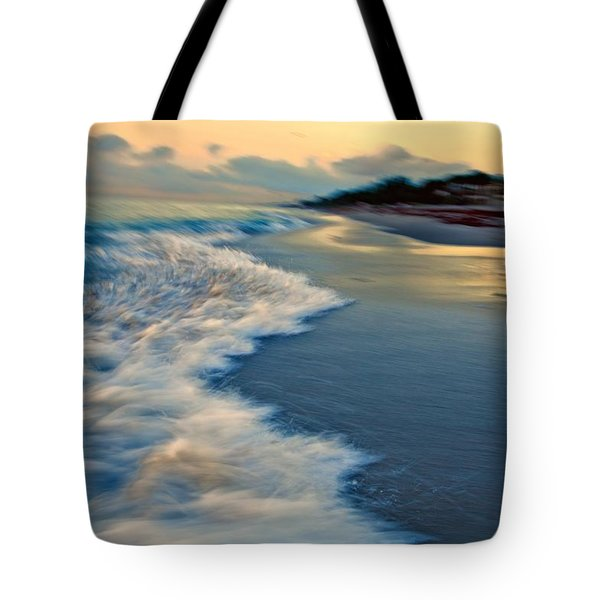 Ocean In Motion Tote Bag by Dennis Baswell