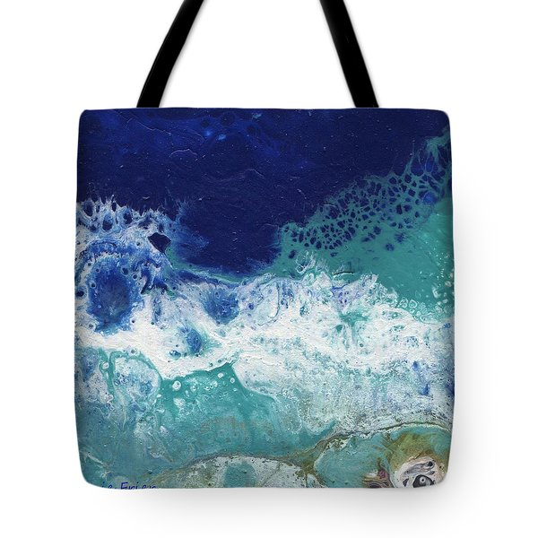 Tote Bag featuring the painting Ocean by Jamie Frier