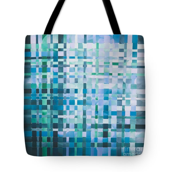 Tote Bag featuring the mixed media Ocean by Jan Bickerton